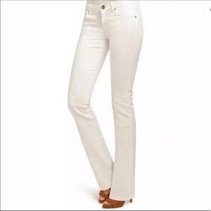 NWT CAbi White Contemporary Bootcut Jean 895-L